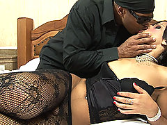 Sexy young shemale and big black cock