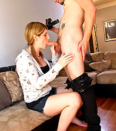 Amy Daly sucks cock POV style!