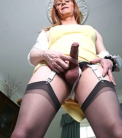 Lucimay loves to smoke slowly and then masturbate her cock