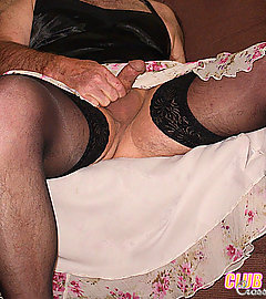 These are some real crossdressing sluts and they love to play