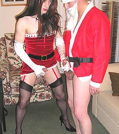 Christmas Kirsty gets fucked hard by a very naughty Santa.